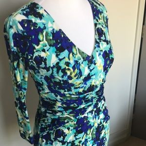 Floral printed work or cocktail dress